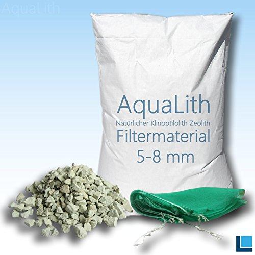 25 kg matériau filtrant zéolite 5-8 mm incl. Filtre sac en filet pour les étangs