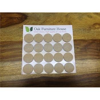 24 Oak Furniture Self Adhesive Felt Pads Wood Floor Protectors (17mm)