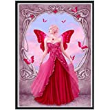 sunnymi 5D Diamant Full Malerei, Sonnenuntergang Diamant Zeichnung DIY Stickerei Painting Kreuz Stich Diamond Dekoration 30 * 30CM (Rot Fee, 30x40cm)