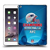 Head Case Designs Offizielle NFL New England Patriots 5 2019 Super Bowl LIII Champions Soft Gel Hülle für iPad Air 2 (2014)