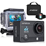 "Black: Andoer 4K 1080P Wifi Sports Action Video Camera 16MP 2"" Ultra-HD LCD 170 Degree Wide-Angle Lens Waterproof Mini Camera Camcorder"