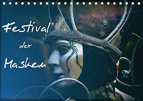 Festival der Masken (Tischkalender 2018 DIN A5 quer): Kunstvolle venezianische Masken (Monatskalender, 14 Seiten ) (CALVENDO Menschen) [Kalender] [May 23, 2017] Hampe, (Land Welt Kostüme)