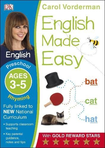 English Made Easy Rhyming Ages 3-5 Preschool Key Stage 0 (Made Easy Workbooks)