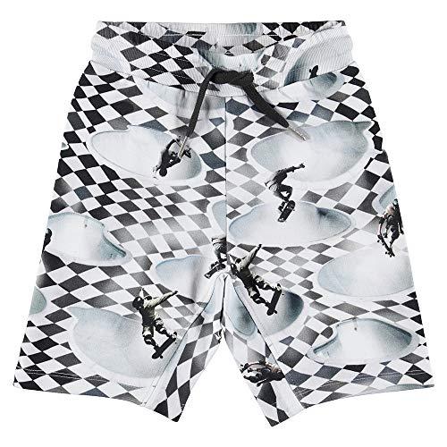 Molo * Vans Jungen Short mit schwarz-Weiss-Druck: Skater A06 - Vans Shorts Schwarz