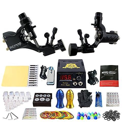 Solong Tattoo Kit de Tatouage complet 2 Machine Tatouer professionnel Power Supply Aiguille de Tatouage Tattoo Kit Set TK202-19