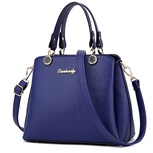 fanhappygo Fashion Retro Leder Damen elegant Anhänger taschen Schulterbeutel Umhängetaschen Abendtaschen blau