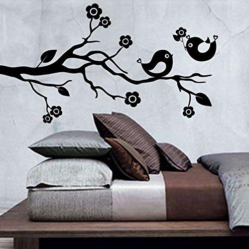 Ambiance-Live Wandtattoo Vogel hält eine Blume - 55 x 100 cm, Schokolade - 0011 Schokolade