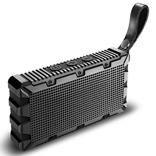 ZENWEN IP67 wasserdicht Bluetooth-Lautsprecher, tragbares Outdoor-Mini 5W Audio Home Desktop Portable Stereo-Lautsprecher Handy Laptop Mini-Stereoanlage, Freisprech-Telefon (schwarz) Schwarz Portable Speaker