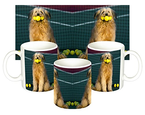 Perro Con Pelotas De Tenis Dog With Tennis Balls Tasse Mug