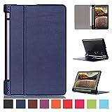 Kepuch Custer Lenovo Yoga Tab 3 8.0 850F Hülle - Shell Schutzhülle PU Tasche Smart Case Cover für Lenovo Yoga Tab 3 8.0 850F - Blau
