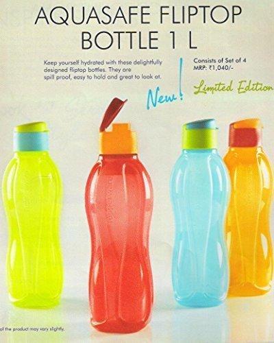 tupperware-aquasafe-flip-top-bottiglia-1-l-ciascuno-set-di-4