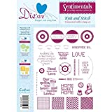 Crafters Companion Die'sire Sentimentals Rubber Stamps - Knit and Stitch