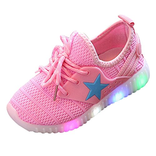 Muium Children Light Shoes Toddler Infant Baby Boys Girls Star Luminous Sneakers Boots for