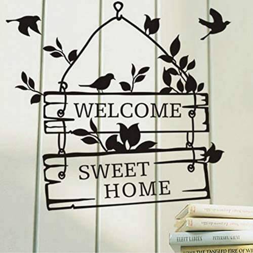 t Home Sign Schlafzimmer/Wohnzimmer/Tür/Fenster - Sagen Sie Zitat Wort Beschriftung Art Vinyl Aufkleber Aufkleber Home Decor Wörter ()