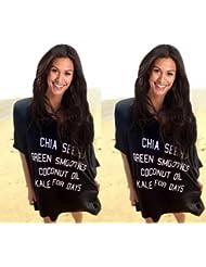 qxj algodón mercerizado de impresión y fácil de sol vacaciones Cardigan Blusa Falda Negro Bikini para hombre