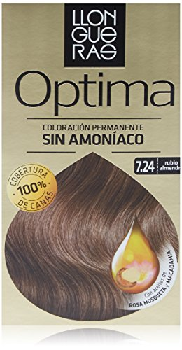 Llongueras Tintura per Capelli, Optima Hair Colour, 200 gr, 7.24-Almond Blond