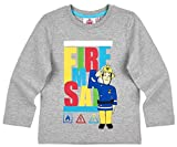 Feuerwehrmann Sam Kollektion 2017 Langarmshirt 92 98 104 110 116 122 128 Shirt Fireman Sam Jungen Neu Top Grau (110 - 116; Prime, Grau)