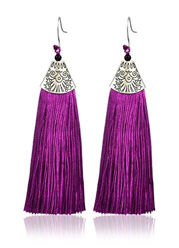 YouBella Fashion Jewellery Stylish Thread Tassel Fancy Party Wear Long Earrings for...