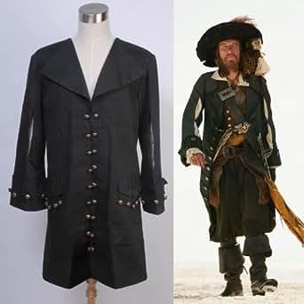 Pirates des Caraïbes Barbossa Manteau Cosplay Costume Déguisement -*Sur Mesure*