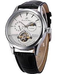 KS KS227 - Reloj , correa de cuero color negro