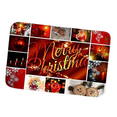 Baoblaze Weihnachten Fußmatte Schmutzfangmatte Fußabtreter Schmutzmatte - Frohe Weihnachten 1, 40x 60cm