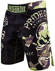 "Fight Short Sport MMA PRiDEorDiE ""RAW TRAINING CAMP"" Jungle"
