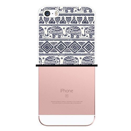 iPhone SE iPhone 5 5S Hülle, WoowCase® [ Hybrid ] Handyhülle PC + Silikon für [ iPhone SE iPhone 5 5S ] Bäume und Universum Handytasche Handy Cover Case Schutzhülle - Transparent Housse Gel iPhone SE iPhone 5 5S Transparent D0109