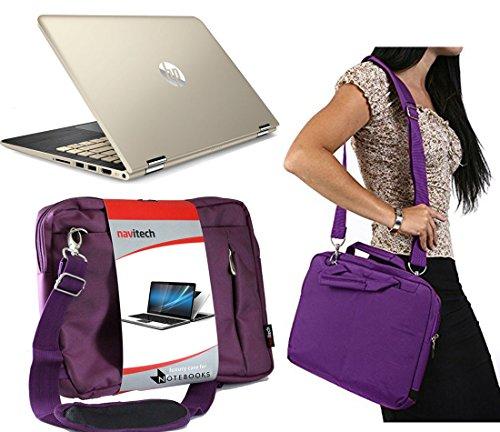 Navitech 11.6 Prime Prime Notebook/ Ultrabook / Laptop Case / Cover Trage Tasche / Schultertasche in Lila speziell für das HP Pavilion x2 - 10-k007na / HP Pavilion x2 - 10-k008na