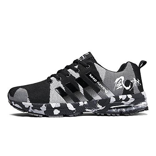 FUSHITON Laufschuhe Damen Sportschuhe Turnschuhe Herren Sneakers Running Shoes Air Sport Atmungsaktiv Straßenlaufschuhe