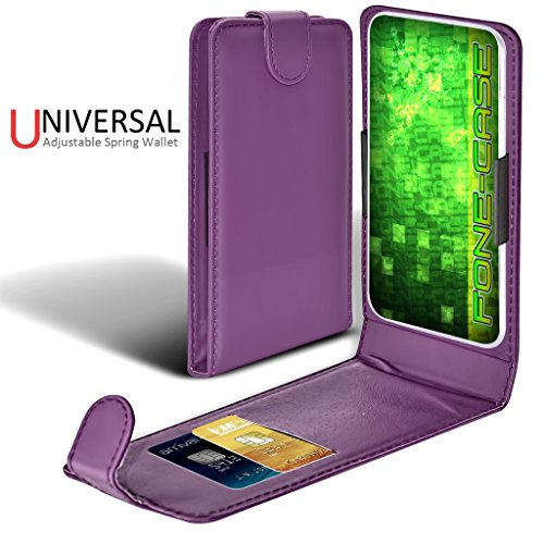 Fone-Case (Vert) Apple Iphone 7 Case style Clamp flip protection PU Housse en cuir VioletUniversal Clamp Flip