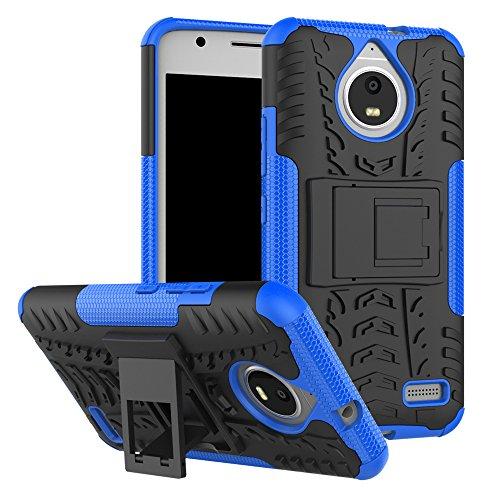 QiongniAN Cover per Motorola Moto E4,Staffa Antiurto Custodia per Motorola Moto E4 XT1760 XT1762 XT1763 XT1764 XT1767 XT1767PP XT1768 XT1769 / Moto E Gen 4 Custodia Case Cover Blue