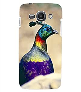 ColourCraft Cute Peacock Design Back Case Cover for SAMSUNG GALAXY ACE 3 3G S7270