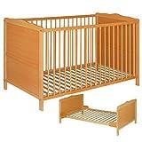 Best For Kids NELLY 2 in 1 GITTERBETT KINDERBETT JUNIORBETT BETT TODDLER BED 140x70 ohne Matratze