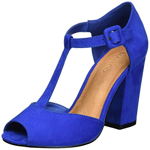 Bianco Damen Open Shoe with Lace 35-49239 Mary Jane Halbschuhe Blau (Blue)