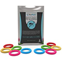 TravPack® PREMIUM Silicone Mosquito Repellent Bracelets (x10 Assorted Colours) - KEEP MOSQUITOES AWAY NOW! Market Leading Mosquito Repellent, Bug Repellent & Insect Repellent, Scientifically Designed With 250 Hours Use Per Bracelet! FREE Delivery When You Buy 2 Packs.