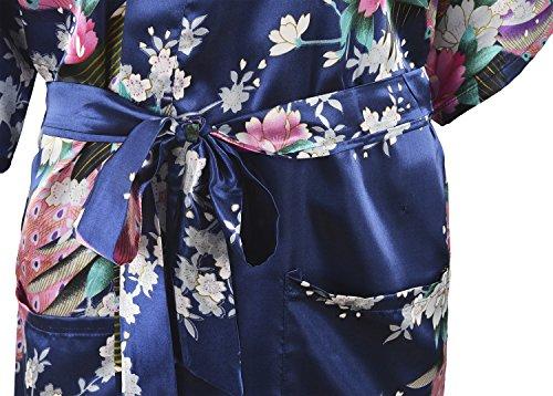 HonourSport Canotte lunghe Kimono giapponese da donna profondo blu