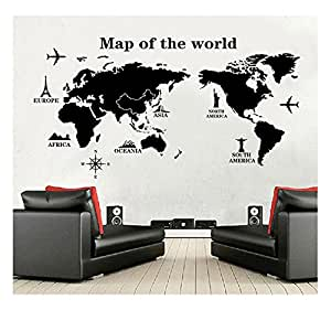 Buy world map wall decal vinyl wall art removable sticker large share facebook twitter pinterest gumiabroncs Gallery