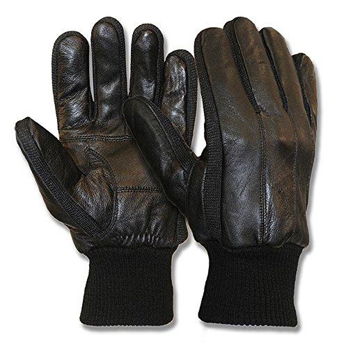 Classic Collection Herren Driver Kleid Handschuhe Schaffell Weiches Echtleder Handschuhe Fleece gefüttert schwarz groß