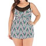 CICIYONER Tankini Badeanzüge für Damen Sommer Frauen Plus Size Print Swimjupmsuit Badeanzug Beachwear Gepolsterte Badebekleidung S-5XL