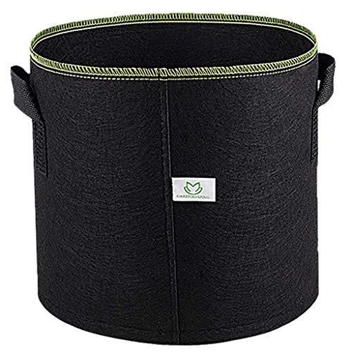 Premium Woven Holz (LXYZZDYG Pflanze Wachsen Tasche Stoff TöPfe, Indoor-Garten Pflanzer Taschen Premium Atmungsaktiv NatüRliche VerstäRktes Non-Woven-Material - 5-Pack)