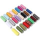 Fdit 24 Colores de Costura de Cuero Encerado Hilo de Tela Cuerda de Bobina de Costura