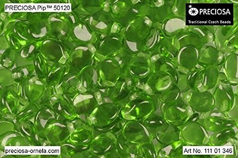 50pcs PIP Beads 7x5mm Pressed Czech Glass,