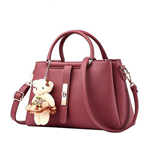 LAIDAYE Womens Weiche Leder Handtaschen Multicolor Schultertasche Reise Totes 5