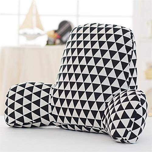 QAZW Geometrie Einstellbar Lesekissen auf Atmungsaktiv Bequem Rückenkissen Keilkissen Weich Abnehmbar Weich Dreieckskissen Couch Kissen Waschbar Für Schlafzimmer Wohnzimmer etc