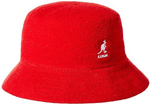 kangol Kangol Unisex Fischerhut Bermuda Bucket, Red (Scarlet), Small