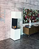Bio-cheminée LIVIGNO - 2.5kW - Acier peint en blanc,