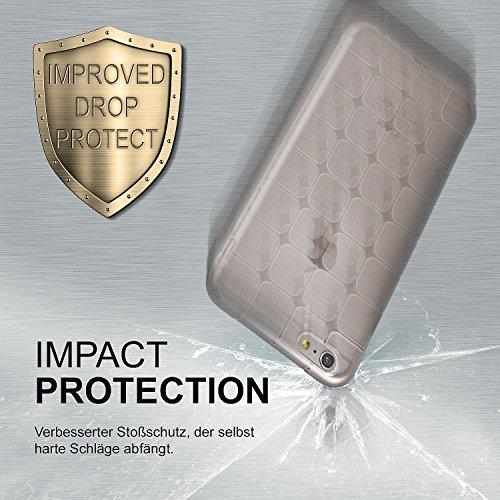 iPhone 6S Hülle Silikon Transparent Schwarz [OneFlow Cube Back-Cover] Ultra-Slim Silikonhülle Dünn Handy-Hülle für iPhone 6/6S Case TPU Schutzhülle ANTHRACITE-GRAY