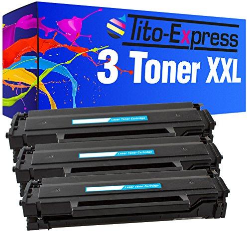 PlatinumSerie® 3x Toner-Kartusche XL kompatibel für Samsung MLT-D101S 1.500 Seiten Schwarz