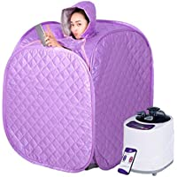 Steam Bath Portable lose weight &Detoxification Far Infrared Portable Sauna Color : Silver