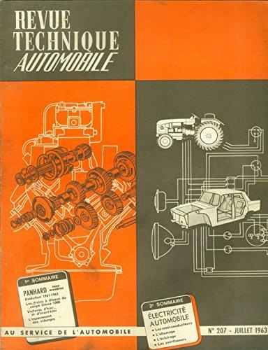 RTA Revue Technique automobile N 207 : PANHARD (Juillet 1963)